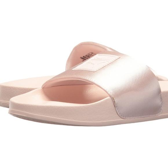 d28dc60835d63 NEW Puma Leadcat Satin Pearl Women Slides Size 8.5 NWT